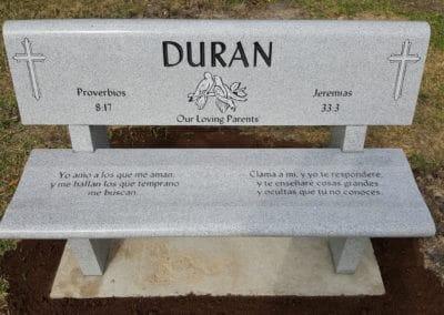 Cemetery Benches - Duran