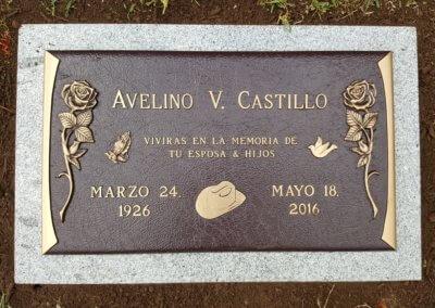 Bronze Grave Markers - Castillo, Avelino