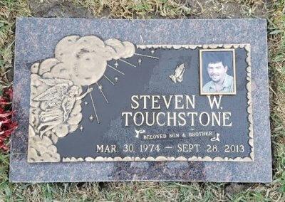 Bronze Grave Markers - Touchstone, Steven