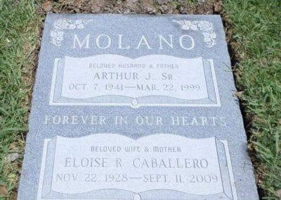 Double Deep Grave Markers / Granite Grave Markers - Molano