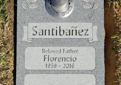 Double Deep Grave Markers / Granite Grave Markers - Sanibanez