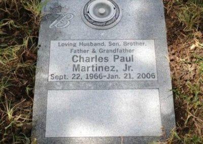 Double Deep Grave Markers / Granite Grave Markers - Martinez