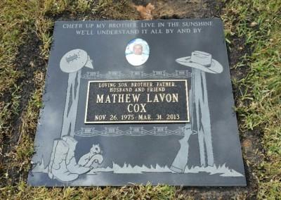 Bronze Grave Markers - Cox