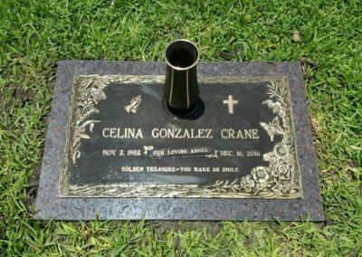 Bronze Grave Markers - Crane