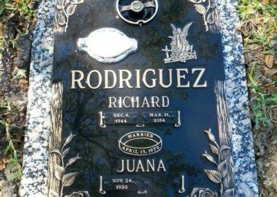 Bronze Grave Markers - Rodriguez, Richard