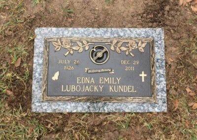 Bronze Grave Markers - Kundel, Edna