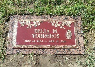 Bronze Grave Markers - Torreros, Delia