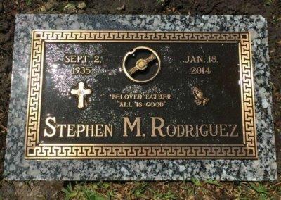 Bronze Grave Markers - Rodriguez, Stephen