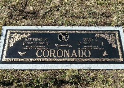 Bronze Grave Markers - Coronado