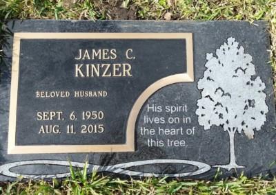 Bronze Grave Markers - Kinzer