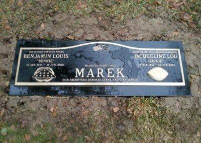 Bronze Grave Markers - Marek