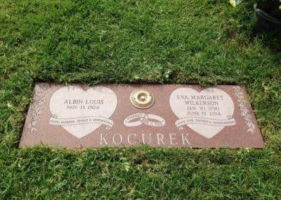 Companion Grave Markers - Kocurek