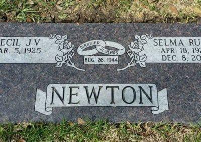 Companion Grave Markers - Newton