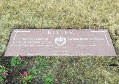 Companion Grave Markers - Ritter