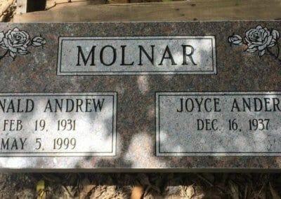 Companion Grave Markers - Molnar