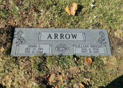 Companion Grave Markers - Arrow