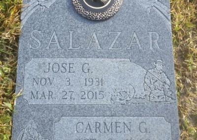 Double Deep Grave Markers / Granite Grave Markers - Salazar