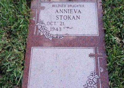 Double Deep Grave Markers / Granite Grave Markers - Stokan