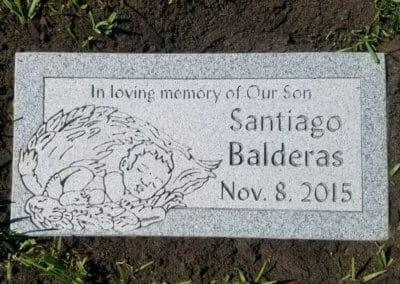 Baby Grave Markers - Balderas