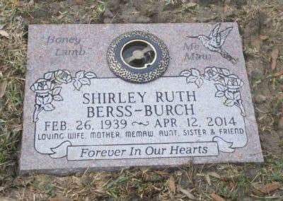 Flat Headstones or Single Grave Markers - Berss-Burch