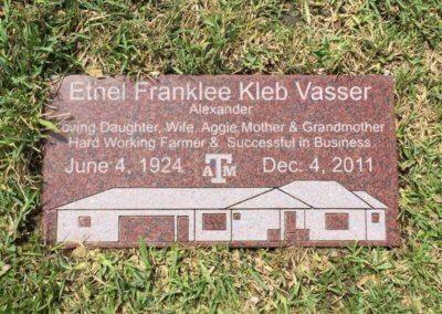Flat Headstones or Single Grave Markers - Vasser, Ethel