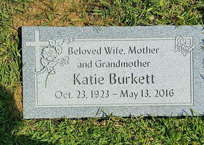 Flat Headstones or Single Grave Markers - Burkett