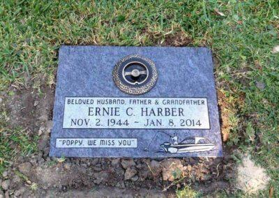 Flat Headstones or Single Grave Markers - Harber, Ernie