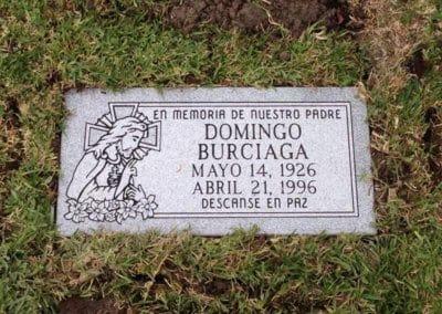 Flat Headstones or Single Grave Markers - Burciaga, Domingo