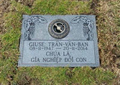 Flat Headstones or Single Grave Markers - Tran-Van-Ban