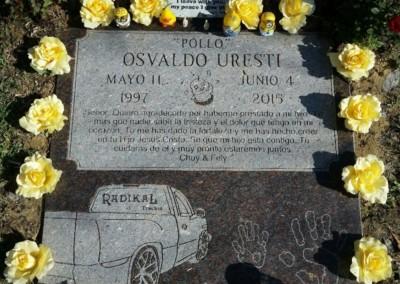 Flat Headstones or Single Grave Markers - Uresti