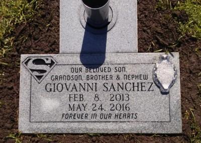 Flat Headstones or Single Grave Markers - Sanchez