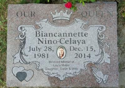 Flat Headstones or Single Grave Markers - Nino-Celaya