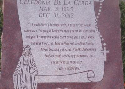 Flat Headstones or Single Grave Markers - De La Cerda