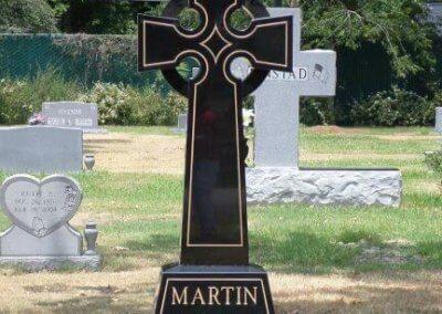 Heart Shaped Headstones and Cross Monuments - Martin, Roberta