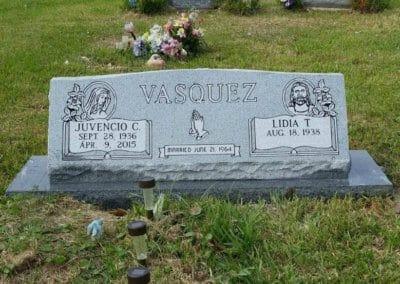 Slant Headstones and Slant Monuments - Vasquez