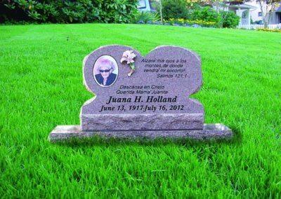 Slant Headstones and Slant Monuments - Holland