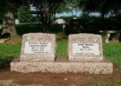 Slant Headstones and Slant Monuments - Bolin