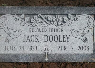 Flat Headstones or Single Grave Markers - Dooley, Jack