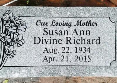 Flat Headstones or Single Grave Markers - Richard, Susan