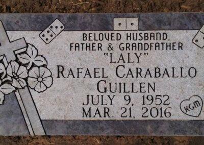 Flat Headstones or Single Grave Markers - Guillen, Rafael