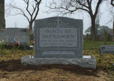 Single Upright Headstones and Single Upright Monuments - Shuttlesworth