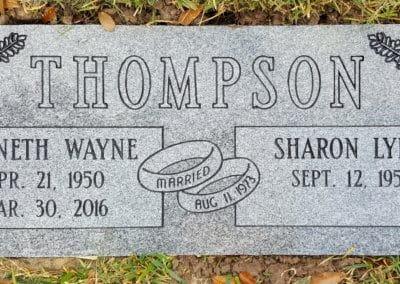 Companion Grave Markers - Thompson