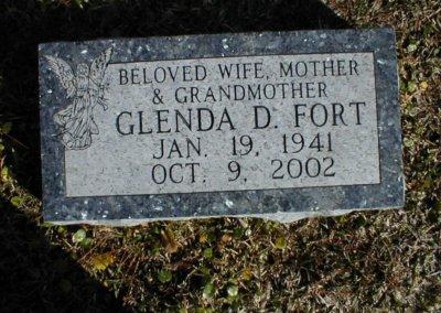 Flat Headstones or Single Grave Markers - Fort, Glenda