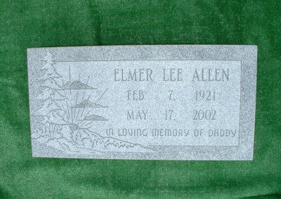 Flat Headstones or Single Grave Markers - Allen, Elmer