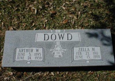 Companion Grave Markers - Dowd