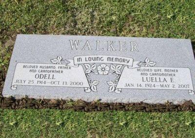 Companion Grave Markers - Walker