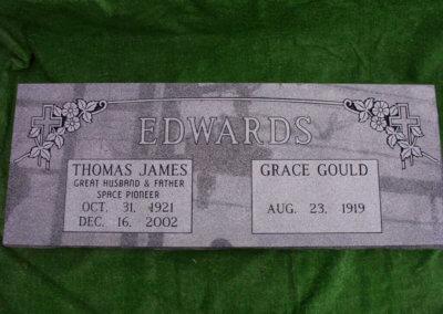 Companion Grave Markers - Edwards