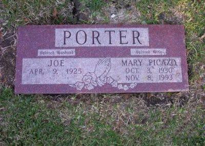 Companion Grave Markers - Porter