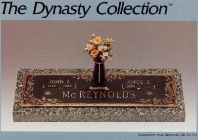Bronze Grave Markers - McReynolds