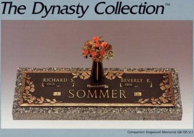 Bronze Grave Markers - Sommer